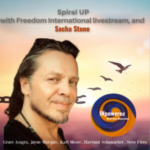 "Sacha Stone founder of ""The New Earth Project"""