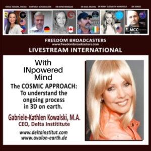 Gabriel – Kathlen Kowalski, The Cosmic Approach – Jayne with Freedom International.