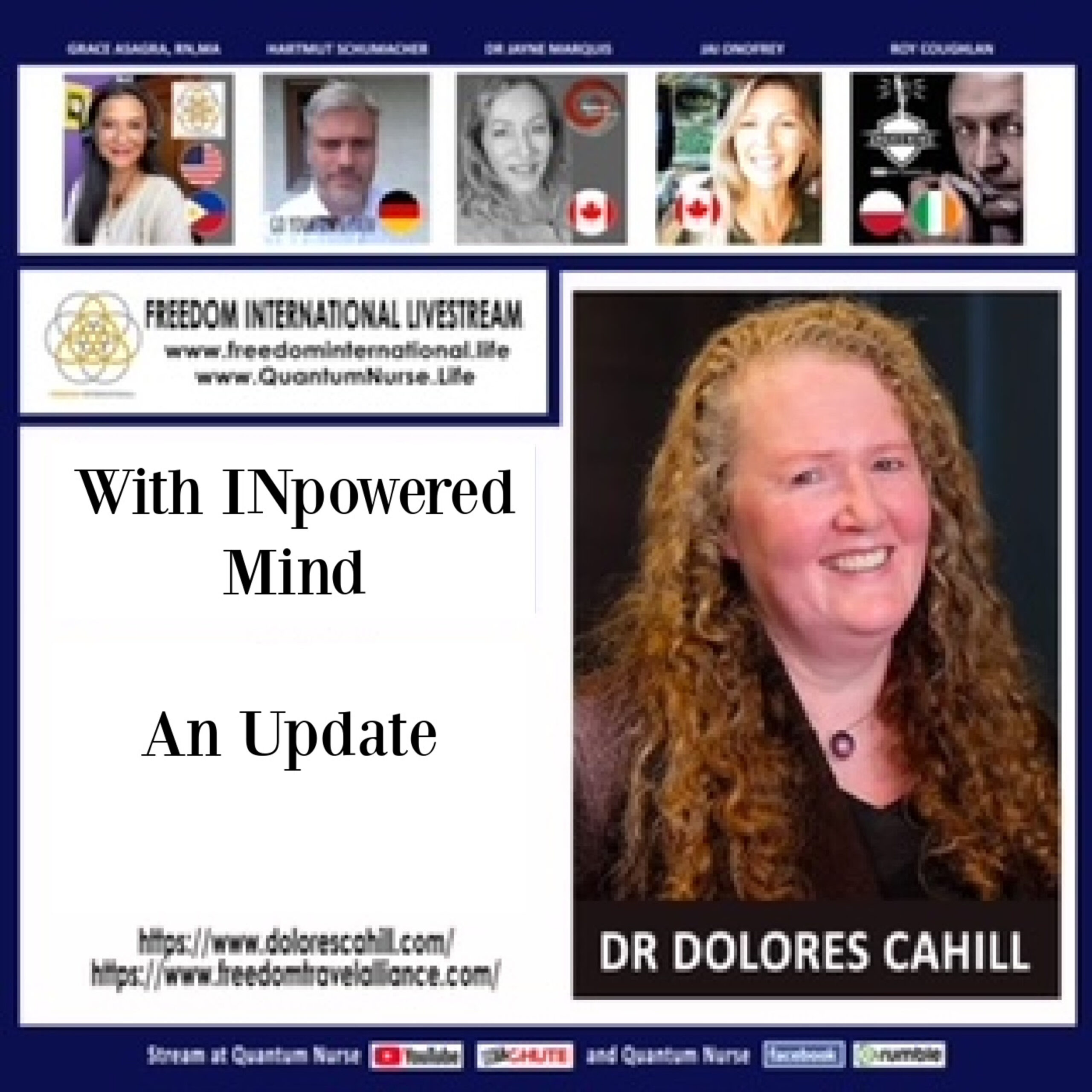 Dr. Deloris Cahill Ph.D. Molecular Biologist/Immunologist – An update – With the Freedom International Panel